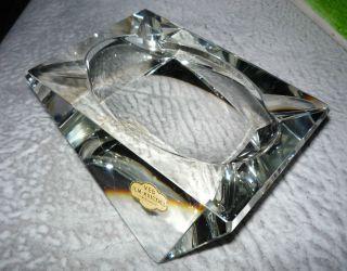 Veb Ilm Kristall Aschenbecher Ashtray Handschliff Klarglas Art Deco Selten Rar Bild