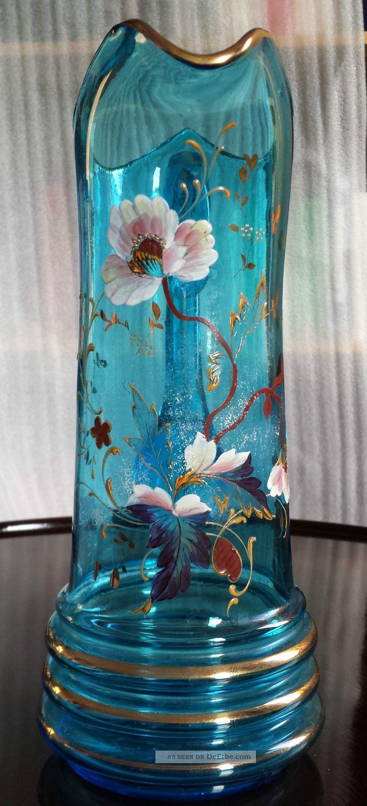 Saftkaraffe Emailmalerei Jus Carafe Peinture émail Juice Carafe Enamel Painting Glas & Kristall Bild
