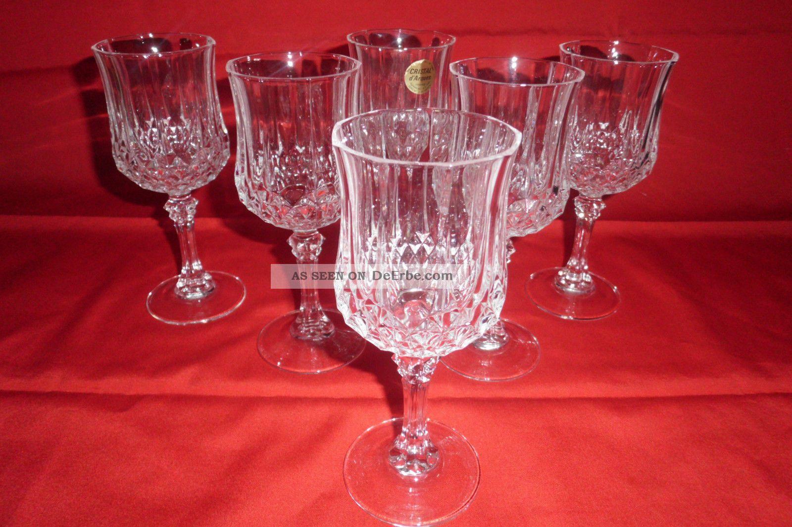 Cristal d 39 arques longchamp 24 bleikristall 6 weingl ser - Verres cristal d arques longchamp ...