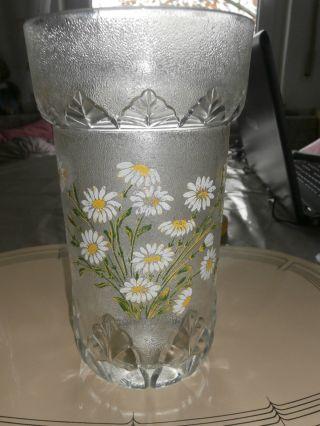 Kristall Blumenvase Mit Blumenmotiv