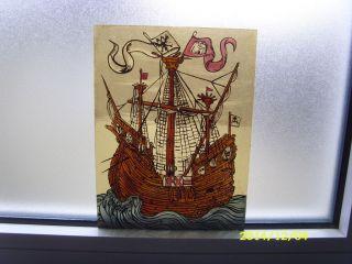 Glasmalerei Bleiverglasung Maritim Kogge Segelschiff Schiff See Doppelkopfadler Bild
