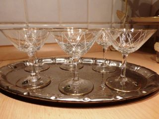 Likörschalen Poschinger Brillant Christalglas Fadenglas 6 Stück Bild