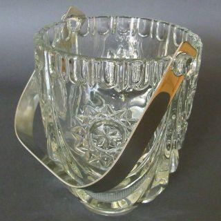 Eisbehälter Eiswürfelbehälter Kristall Bleikristall Edelstahl Facettenschliff Bild