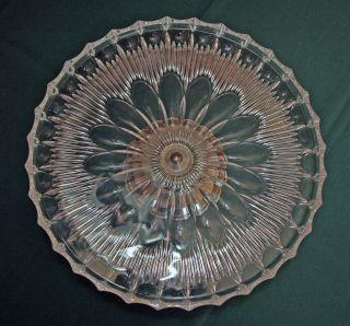 Alte Tortenplatte,  Kuchenplatte Aus (blei - ?) Kristallglas Mit Silbernem Fuß Bild
