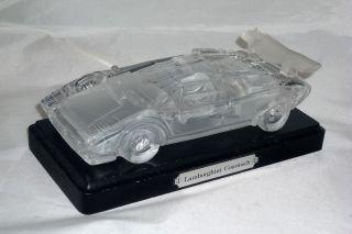 Lamborghini Countach - Modellauto Aus Bleikristall Bild