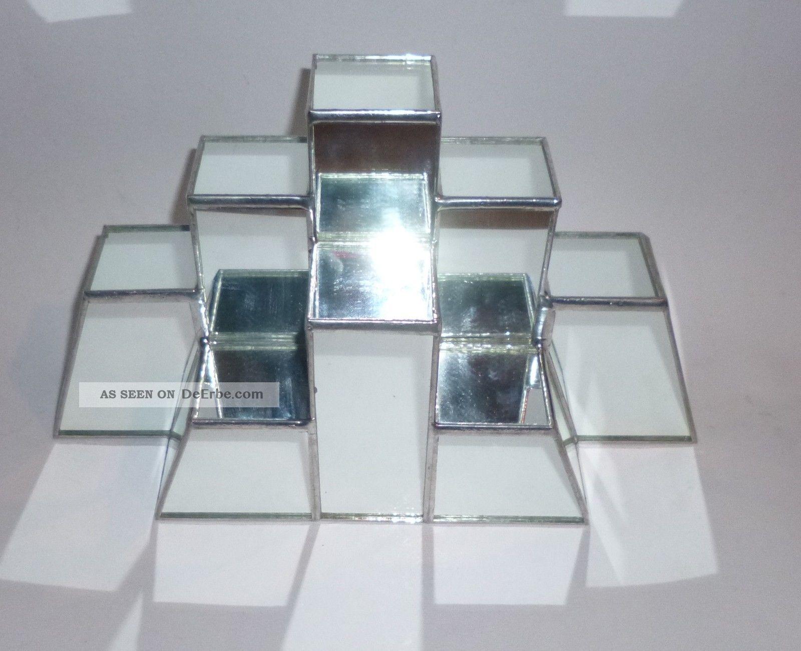 glas spiegel pyramide bleiverglasung treppe sammler figuren etc ablage deko. Black Bedroom Furniture Sets. Home Design Ideas