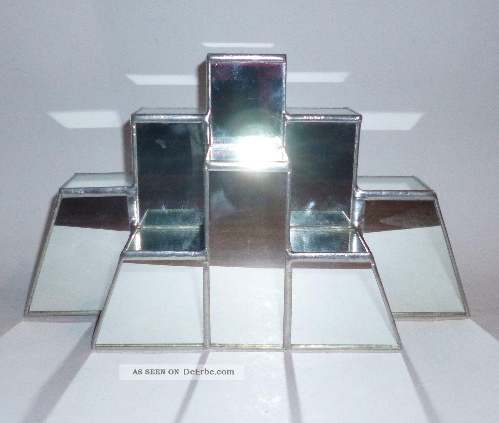 Spiegel Treppen glas spiegel pyramide bleiverglasung treppe sammler figuren etc