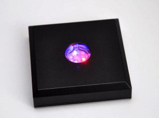 Led Leuchtsockel 5 Farbige Led´s Deko 3d/2d Laser Fotos,  Glaswürfel Geschenk Bild