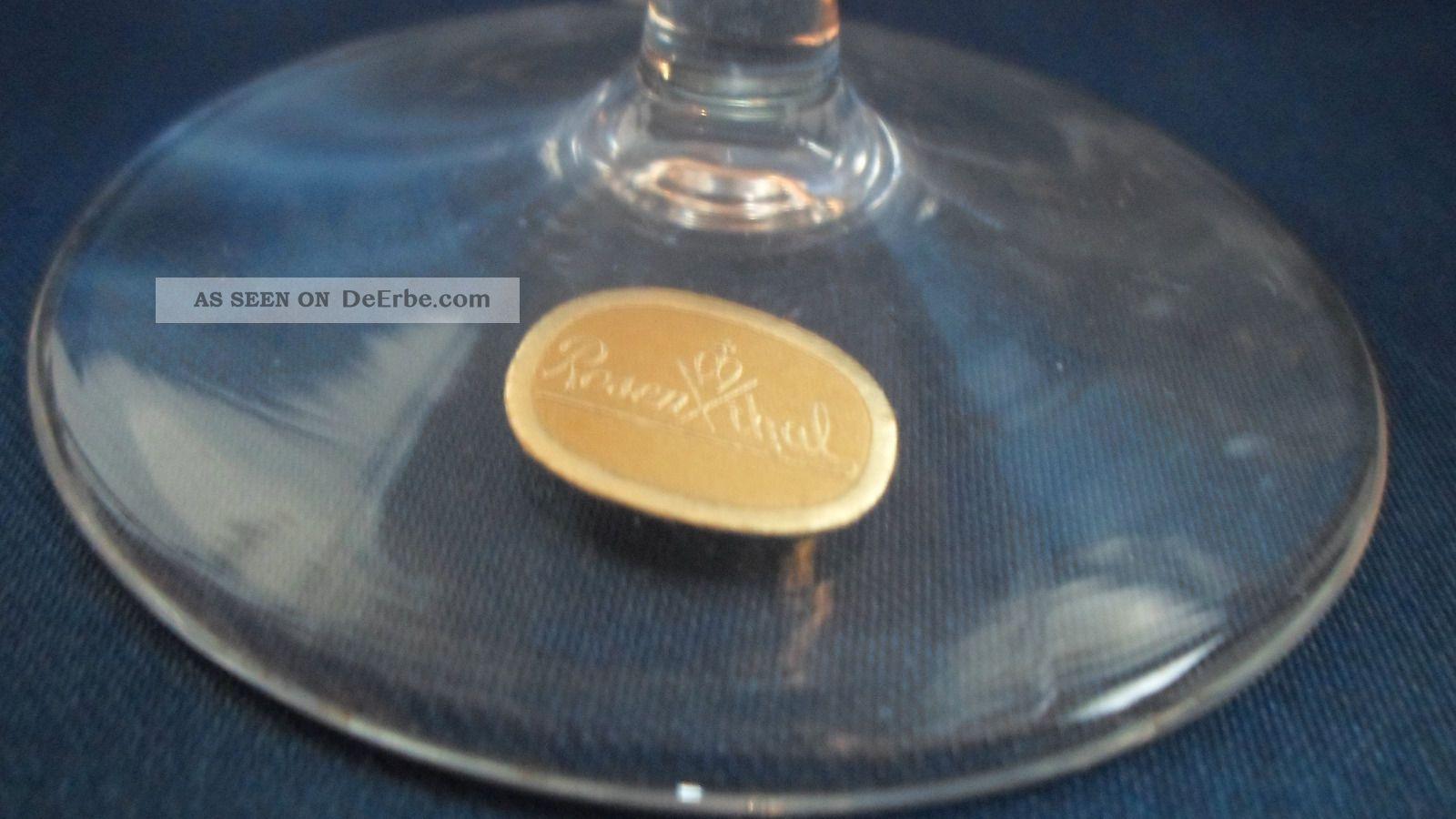 rosenthal gl ser form 2000 antik cognac glas weinbrand. Black Bedroom Furniture Sets. Home Design Ideas