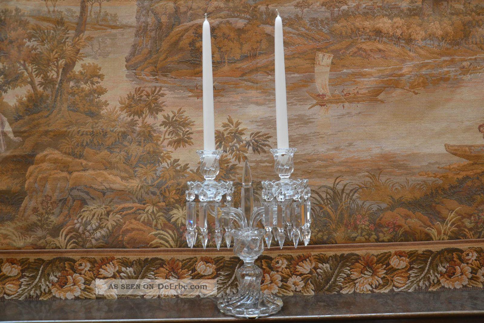baccarat france kerzenleuchter 2 armig kristall 32 cm hoch hanarbeit top. Black Bedroom Furniture Sets. Home Design Ideas