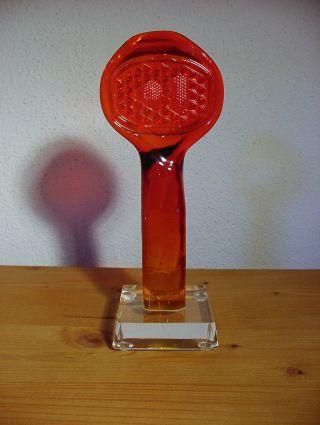 Figur Bremslicht Bleikristall Glas Rot Und Klar Bild