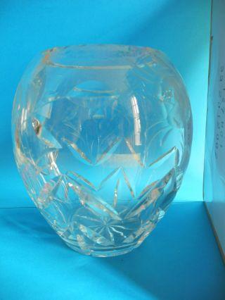 Bauchige Vase Bleikristall Bild