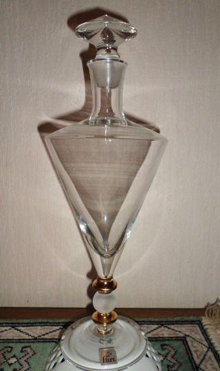 Elegante Edle Karaffe,  Glas Mit Goldverzierung,  600 Ml,  Top Bild