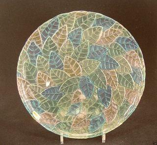 Teller 32cm Kuchenplatte Servierteller Kristall Handbemalt Bild
