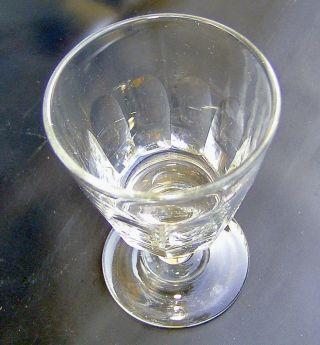 Spätbiedermeier Um 1860 Kleines Weinglas 10 Facetten Schälschliff Höhe 10,  0 Cm Bild