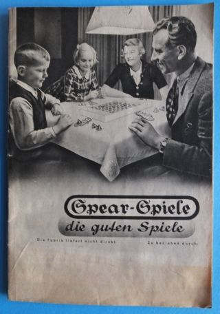 Sehr Alt Spear Spiele Katalog Preise In Rm 32 Seiten Schwarz Weiss Bild