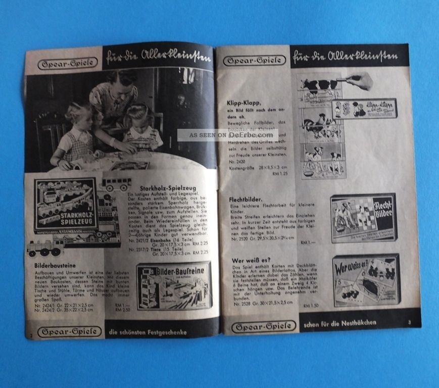 sehr alt spear spiele katalog preise in rm 32 seiten schwarz weiss. Black Bedroom Furniture Sets. Home Design Ideas