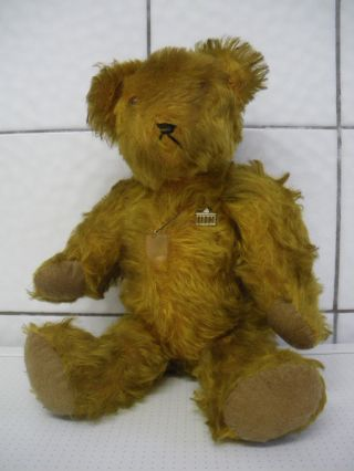 Alter Teddy Mit Anstecker