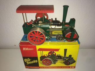 Wilesco Dampfwalze Dampfmaschine Old Smoky D 36 Mit Ovp 32cm Bild