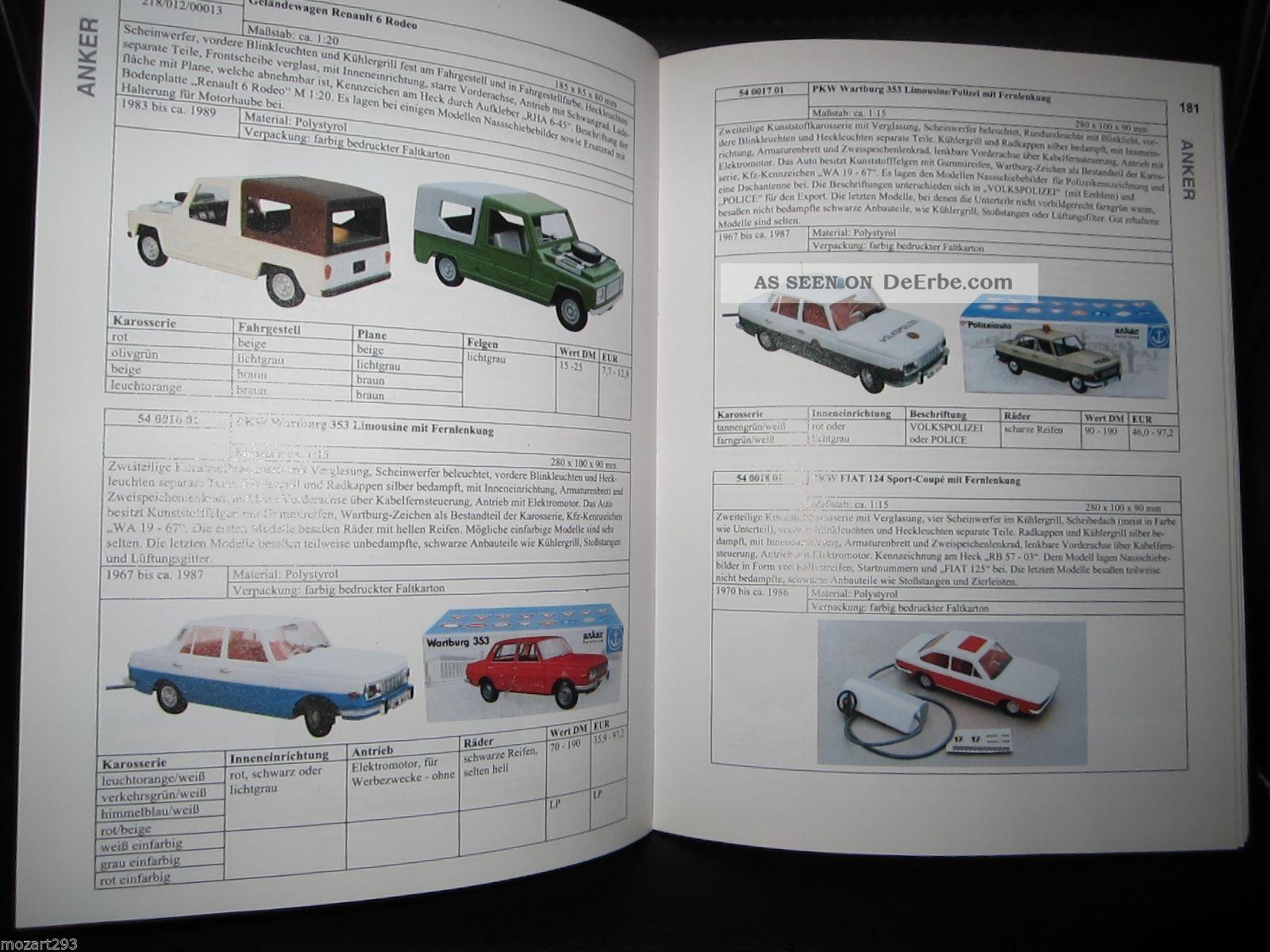 Buch katalog spielzeugautos der ddr band