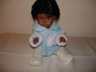 Farbige Puppe - Junge - Kleine Puppe - Alte Puppe Gemarkt Bild
