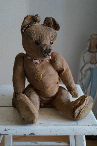 Antikes Tierchen Stofftier Bär Teddy Aus Frankreich French Shabby 13 Bild