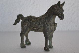 Antikes Messing Pferd Spielzeug Handarbeit Aus Indien 700 G Sehr Selten Bild
