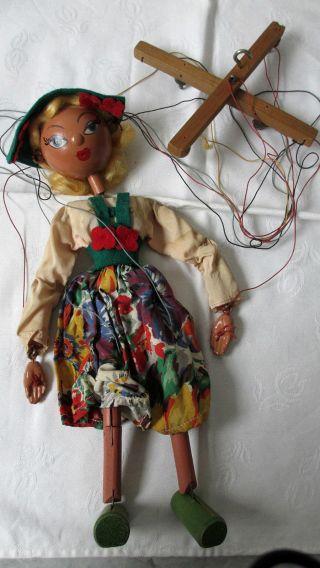 Marionette - Pelham Puppet - Tirolean Girl - Mitte Der 50er Jahre Bild