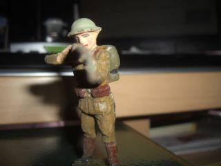 Lineol Soldat Belgier Od.  Engländer? Schiessend 8 Cm Mit Gewehr Lineol Bild