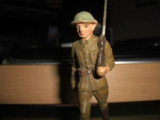 Lineol Soldat Maschierend 9 Cm Mit Gewehr Bild