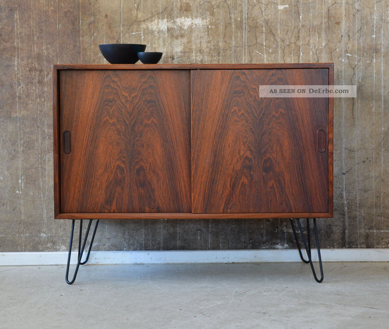 60er palisander kommode danish design 60s rosewood cabinet. Black Bedroom Furniture Sets. Home Design Ideas