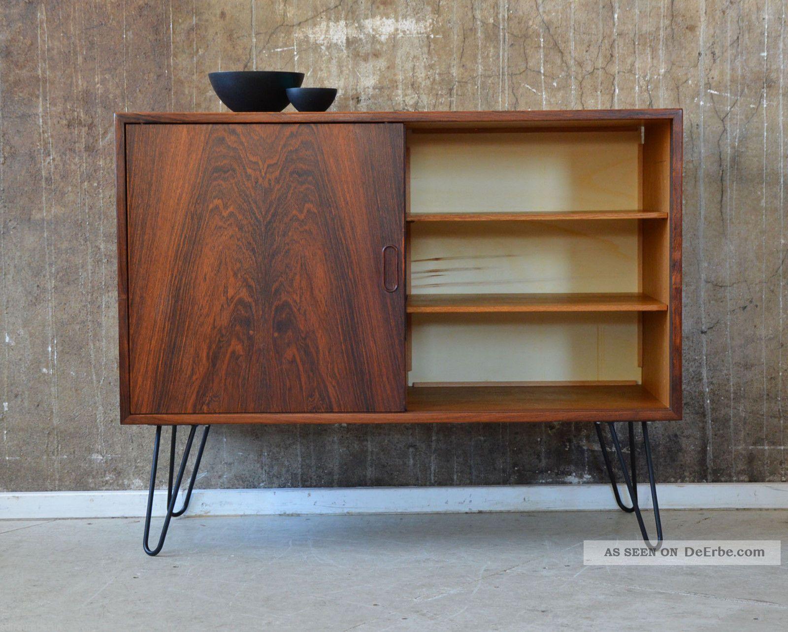 60er palisander kommode danish design 60s rosewood cabinet. Black Bedroom Furniture Sets. Home Design Ideas