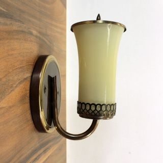 Wandlampe 50er Jahre Laterne Messing Bronze Mid Century Modern Wall Lamp 1950s Bild