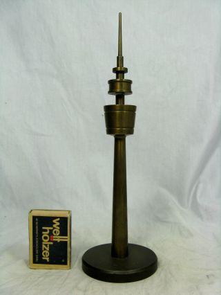 Handmade 70´s Design Television Tower Brass Model Fernsehturm Modell 23 Cm Bild