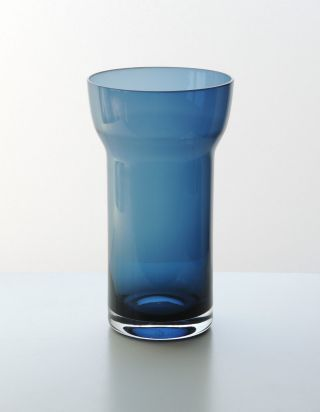 Hans Theo Baumann Gralglas Vase F839 überfang Glas Blau 18 Cm 60er Jahre Gral Bild