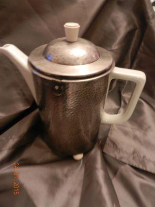 Wmf Versilbert Porzellan Warmhalte - Kaffeekanne Hutschenreuther Versilbert Bild