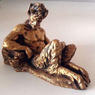 Faun Satyr Pan Gipsfigur Skulptur Bild
