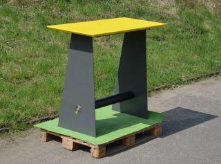 Messe - Lager - Auflosung: Schweres - Stehtisch - Untergestell Handarbeit Bild