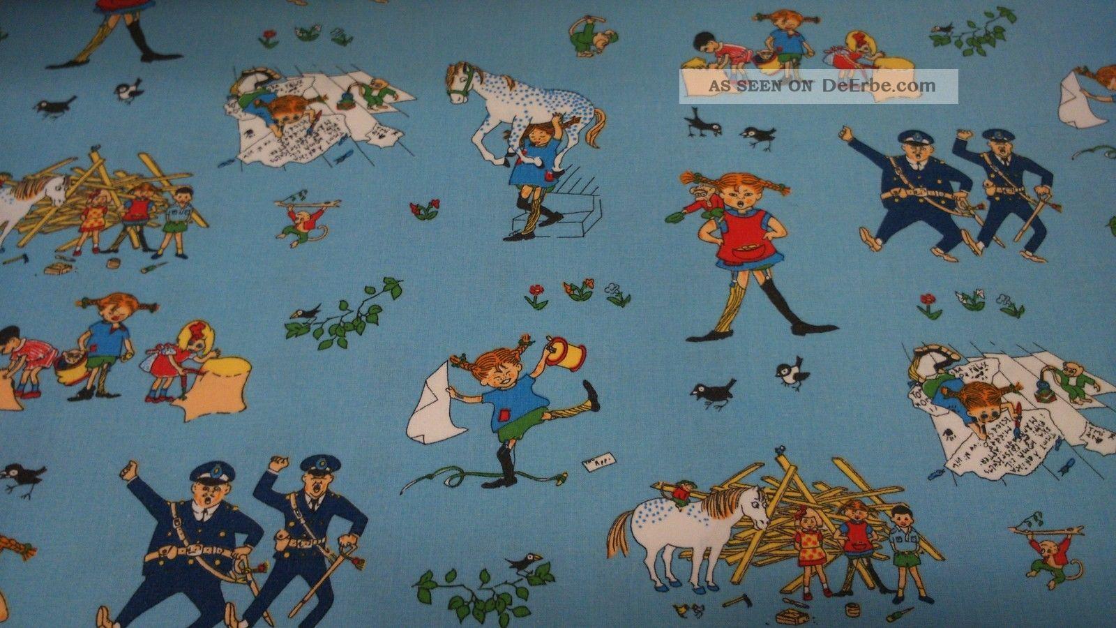 2 Retro Vintage Stoffe Pippi Langstrumpf Herr Nilsson Aus Schweden