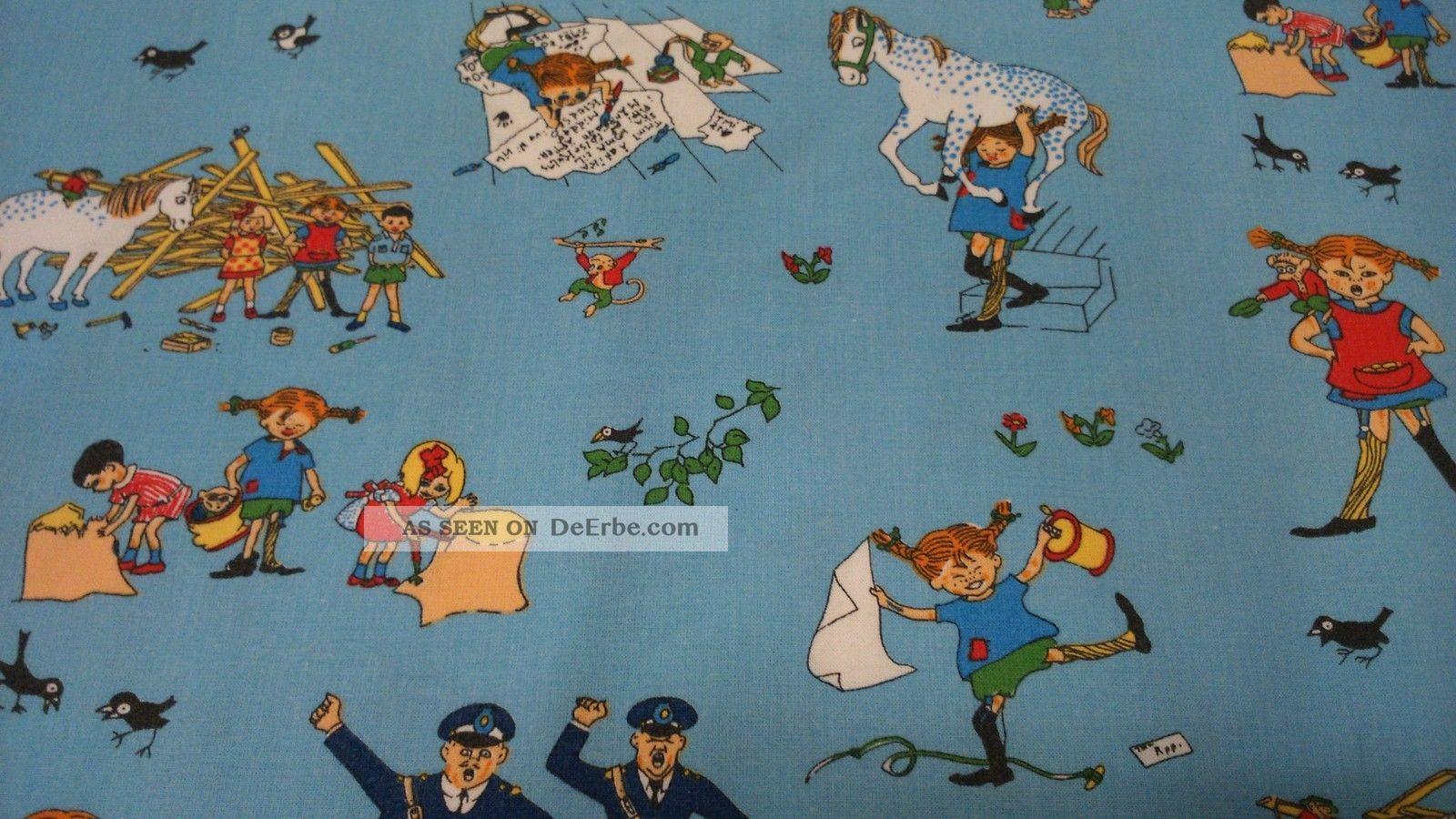 Schwedische stoffe  2 Retro Vintage Stoffe Pippi Langstrumpf, Herr Nilsson Aus Schweden