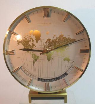 Xxl Kienzle International Weltzeituhr Weltuhr Tischuhr Uhr Messing 29 Cm Hoch Bild