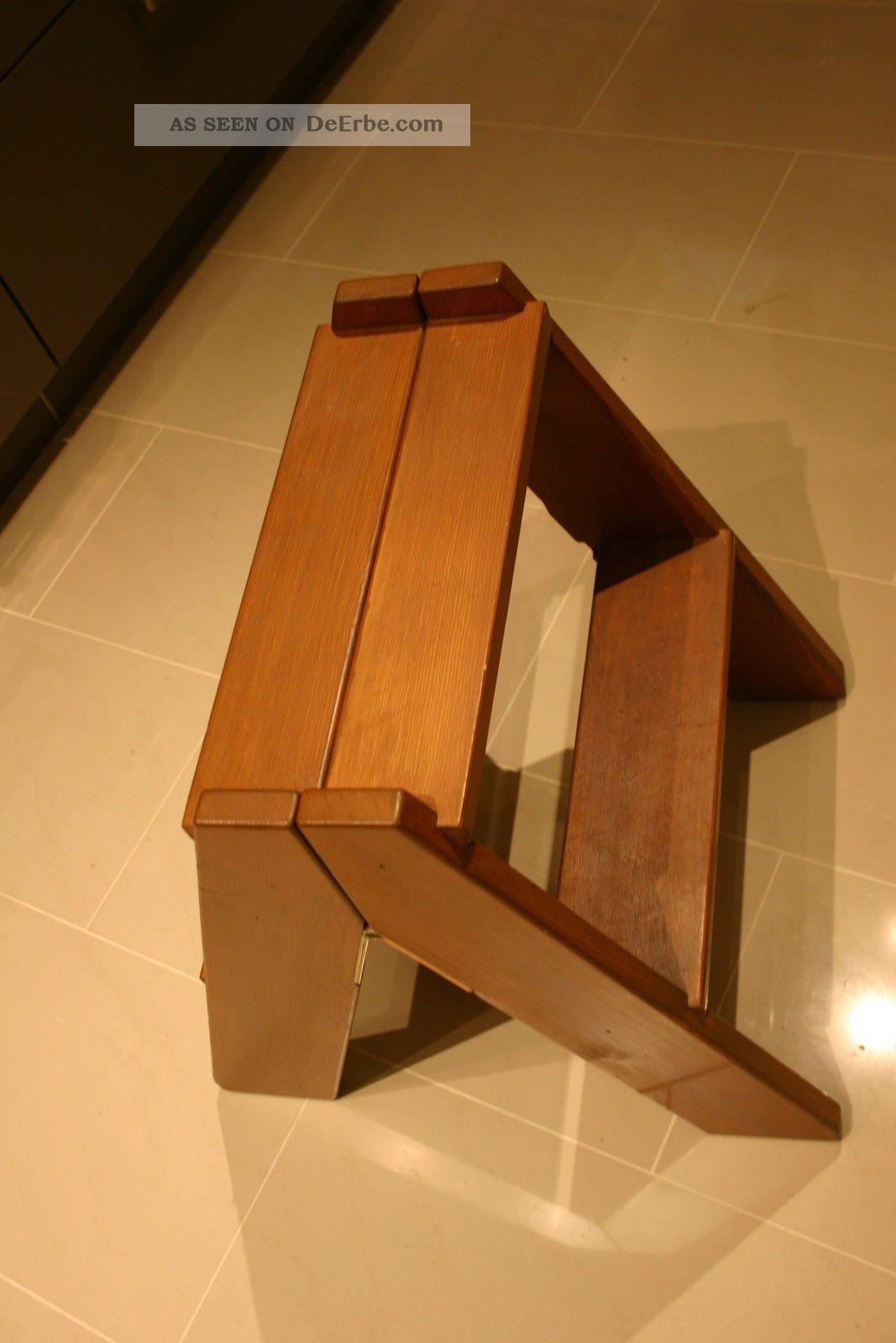 Trittleiter Holz leiter trittleiter bibliotheksleiter stehleiter holz vintage