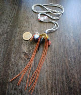 Lakota Made Große Adlerkrallen Kette M.  Medizinbällchen,  Catlinite Stein,  Glöckchen Bild