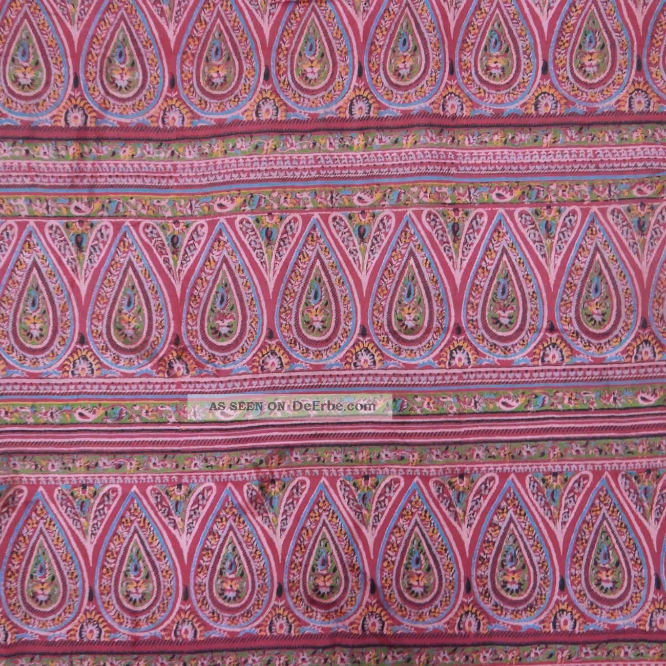 Vintage Indian Saree Pure Silk Printed Fabric Décor Craft Floral