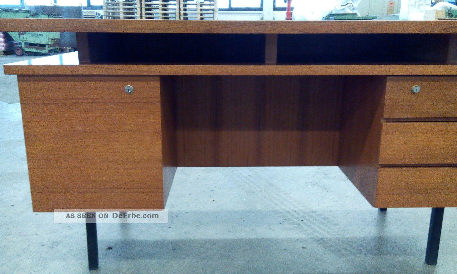 Gro er teak schreibtisch tisch aus den 50er 60er danish for Schreibtisch 60er