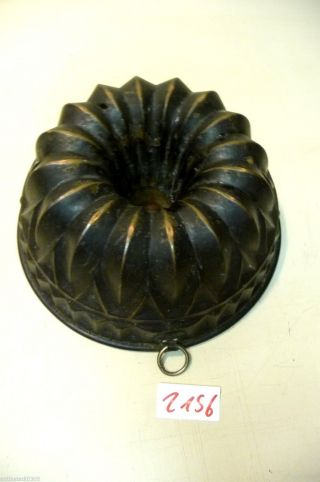 Nr.  2156.  Alte Backform Kupfer Backform Kuchenform Old Baking Mold Cooper Bild