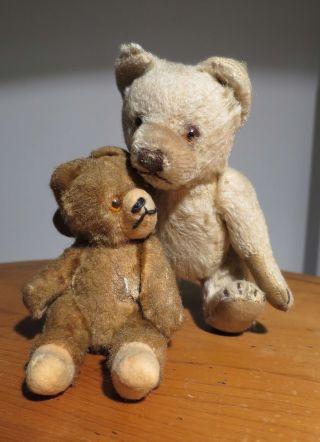 Zwei Uralte Kleine Teddybären Bild