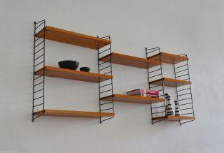 60er Nisse Strinning Regal String Wandregal Midcentury 60s Vintage Shelf Unit Bild