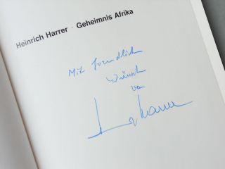 Signiert Heinrich Harrer Geheimnis Afrika Sudan Pygmäen Uganda Turkana Kenia. Bild