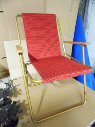 )))  60er Jahre Kinder Klappstuhl Camping Stuhl)) ) Bild